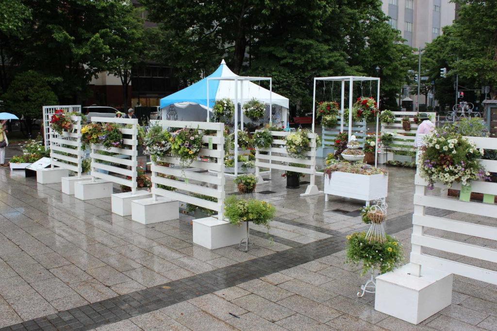 花フェスタ札幌2019の会場展示